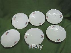 Bavaria Schumann Arzberg Germany Coffee/ Tea Set 4 Six, Teapot, Desert Plates