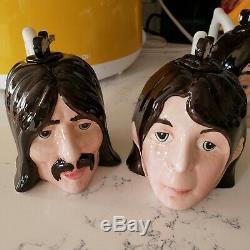 Beatles Figures Heads TEAPOTS LORNA BAILEY Set of 4 Lennon Ringo Rare Novelty