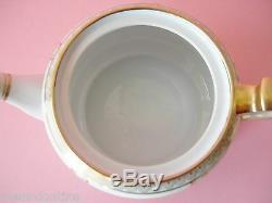 Beautiful Delicate Antique Nippon Tea Set Teapot Creamer & Sugar Pink And White
