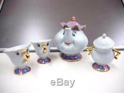 Beauty and the Beast Mrs. Potts Chip Teapot Set Tokyo Disney Resort Limited F/S