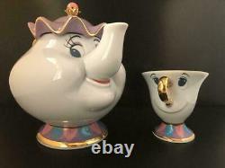 Beauty and the Beast Tokyo Disney Resort Mrs. Potts Tea Pot & Chip Tea Cup Set