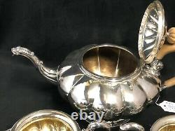 Birks Sterling Silver 3 Piece Tea Set -Teapot cream and sugar