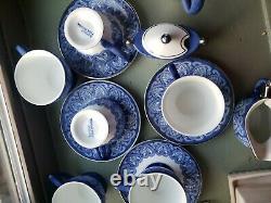 Bombay China ceramic blue white 15pc coffee tea set