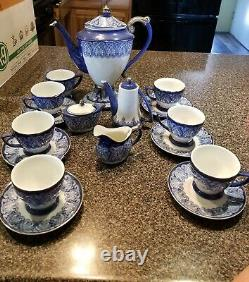 Bombay Company Blue and White Coffee and Tea Set perfect new condition 20 pieces