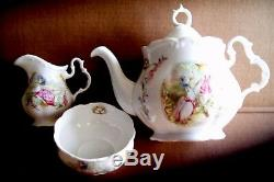 COLLECTIBLE ROYAL ALBERT BEATRIX POTTER PUDDLE DUCK BONE CHINA TEAPOT 4pc SET