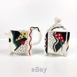 Carnival By Fujimori Teapot Creamer Sugar Mugs Cups Set Kato Kogei Japan Vintage