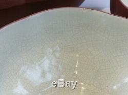 Chinese Vintage Yixing Zisha Hu Teapot set Signed inside Lid
