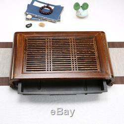 Chinese kungfu tea set original ore yixing zisha tea pot cup Wenge wood tea tray