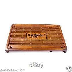 Chinese kungfu tea set zisha tea pot infuser tea cup caddy solid wood tea tray