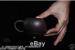 Chinese yixing zisha real original ore stoneware tea set pot solid wood tea tray