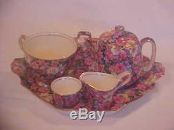 Chintz Royal Winton Florence Breakfast Set Complete Tea Pot Toast Rack 1953
