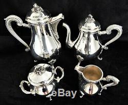 Christofle MARLY Tea Set Teapot Coffee Pot Sugar Creamer French Silver Plate