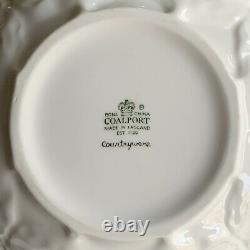 Coalport Country Ware Cabbage Leaf Bone China Set, Teapot, Creamer & Sugar Bowl