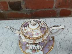 Coalport batwing Lilac tea set small teapot
