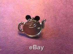 Disney Alice In Wonderland Teapot Hidden Mickey Pins Complete Set With Bonus