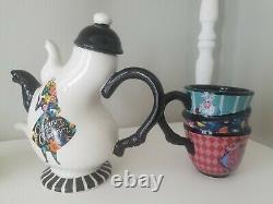 Disney Alice in Wonderland Tea Set Triple Spout Teapot