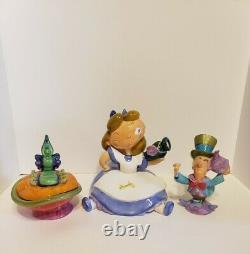 Disney Alice in Wonderland Tea Set, With Teapot Sugar & Creamer