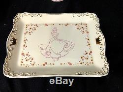 Disney CINDERELLA TEA SET Royal Dreams Coach RETIRED Teapot Tray Sugar Creamer
