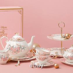 Disney Edition Beauty and The Beast Tea Pot Set Pot + Tray + Cup Set Kitchen