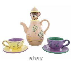Disney Parks Alice In Wonderland Dormouse Tea Set Teapot Cups New In Box