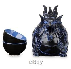 Disney Parks Maleficent Dragon Teapot & Cups Set New with Box