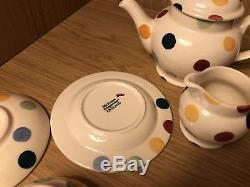 Emma Bridgewater mini polka dot spot dollies doll tea set teapot jug 1st VGC