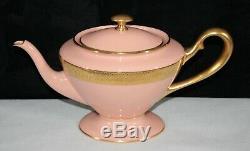 Extremely Rare! Lenox Westchester Coral 3 Pc Teapot Cream & Sugar Set Mint