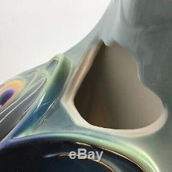 FRANZ Rare PEACOCK Luminescence Teapot Kathy Ireland Home Fine Porcelain Bird