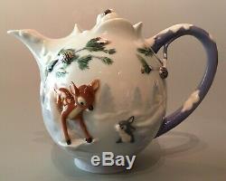 FRANZ Walt Disney Bambi Teapot & Cup with Saucer & Spoon