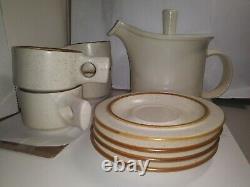 Fabrik TEAPOT & 4 CUPS/SAUCER SET Stoneware Jim McBride RARE VINTAGE