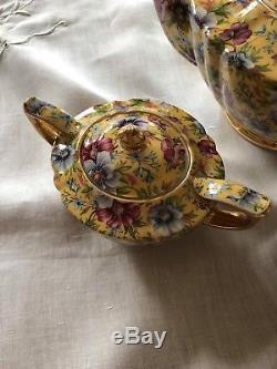Fabulous Vintage Sadler Chintz Tea Set Sophie Teapot
