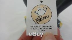 Famous & Rare Swineside Teapottery Bellhop Teapot Vtg 1985 New With Box