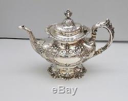 Francis I 4pc Reed & Barton Sterling Silver Tea Set Coffee Pot Sugar & Creamer