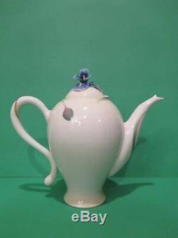 Franz Long Tail Hummingbird & Iris Porcelain Collection Tea Pot Set (Teapot)