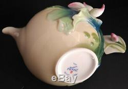 Franz Lotus Harmony Sculptured Porcelain Teapot Item# FZ02190 MINT CONDITION