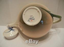 Franz Porcelain Collection Dragonfly Teapot Nib Fz00117 Signed Jen Woo