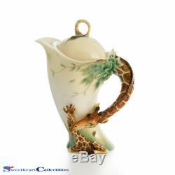 Franz Porcelain Giraffe Teapot Endless Summer