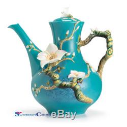 Franz Porcelain Van Gogh Almond Flower Teapot
