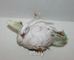 Franz Southern Splendor Swan Sculptured Porcelain Teapot Kathy Ireland