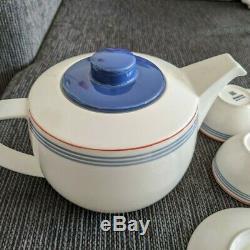 Full Set Arabia Domino Bistro Tove Slotte cups & saucers & tea pot 9 pcs