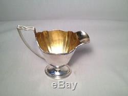 Great Gorham Sterling Silver 3 Pc. Set Tea/Coffee Pot, Creamer, Sugar Plymouth