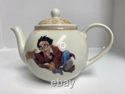 HARRY POTTER Vintage 4-Set Dinnerware with Tea Pot Johnson Bros. & Cook Book Mint