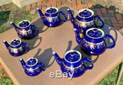 Hall China NEW YORK TEAPOT SETALL (7) SIZES12 CUP, 10, 8, 6, 4, 2, and 1-CUP