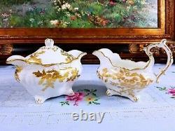 Hammersley Golden Tansy Teapot Creamer Sugar Bowl Tray Set