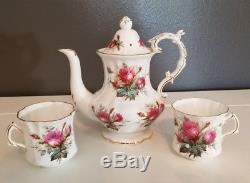 Hammersley Grandmothers Rose Bone China Coffee Tea Pot Cup Set