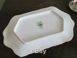 Hammersley Miniature Set Tray Teapot Cup Saucer Creamer Sugar Bowl Flowers Gold