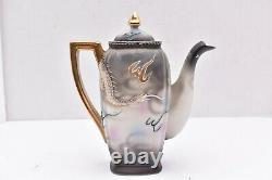 Hand Painted Vintage Tea Set Dragon Japanese Dragonware Porcelain teapot