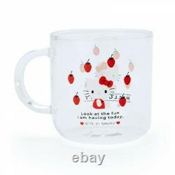 Hello Kitty Strawberry Heat Resistant Glass Tea Pot and Tea Cup Set SANRIO