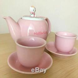 Hello Kitty Teapot & Cup & Saucer Set Chinese Series Pottery 1997 Sanrio Rare JP