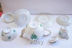 Herend Chinese Bouquet Green Small Teapot 8 pieces total SET